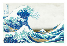 Premium poster The big wave off Kanagawa