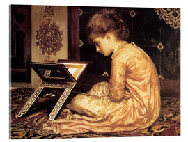 Acrylic print  Study at a Reading Desk - Frederic Leighton