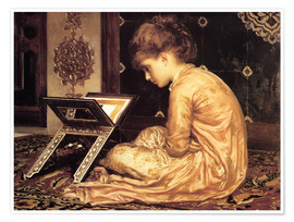 Premium poster  Study at a Reading Desk  - Frederic Leighton