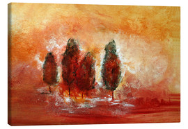 Canvas  red Landscape - Tina Melz