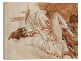 Wood  Reclining Lady - Giovanni Boldini