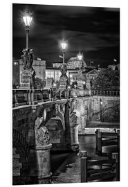 Foam board print  Berlin Black & White Bridge - Marcus Klepper