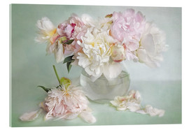 Acrylic print  still life with peonies - Lizzy Pe