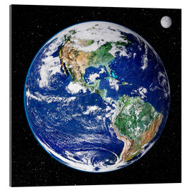 Acrylic print  Earth from space - NASA