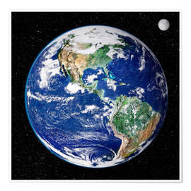 Premium poster  Earth from space - NASA