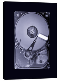 Canvas print  Computer hard disk, simulated X-ray - Mark Sykes