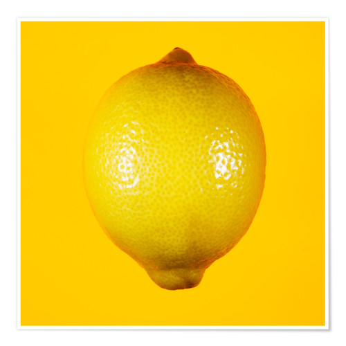 Premium poster Lemon against yellow background