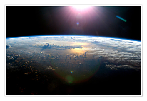 Premium poster Pacific Ocean from space