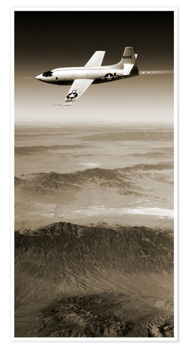 Premium poster Bell X-1 supersonic aircraft