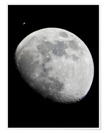Premium poster ISS and the Moon