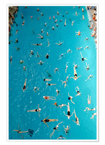 Premium poster Synchronous swimming