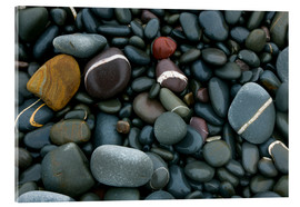 Acrylic print  Pebbles on a beach - Keith Wheeler