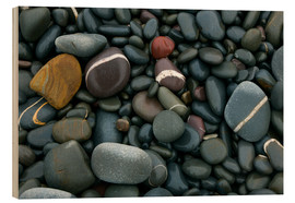 Wood  Pebbles on a beach - Keith Wheeler