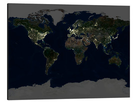 Alu-Dibond  Whole Earth at night - Planetobserver