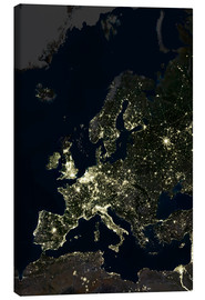 Canvas print  Europe at night - Planetobserver