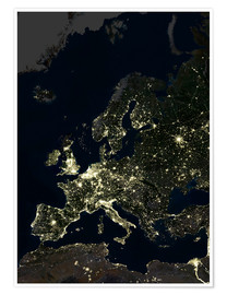 Planetobserver - Europe at night