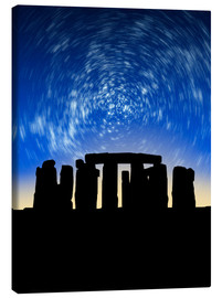 Canvas print  Star trails over Stonehenge - VICTOR HABBICK
