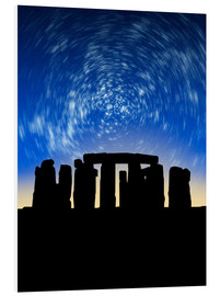 Foam board print  Star trails over Stonehenge - VICTOR HABBICK