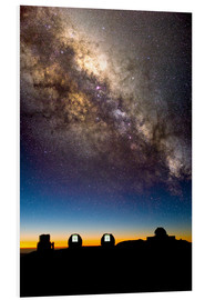 Foam board print  Mauna Kea telescopes and Milky Way - David Nunuk