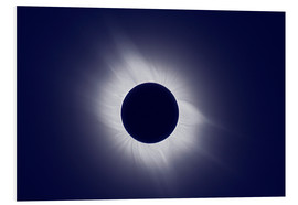 Foam board print  Total solar eclipse at totality - Laurent Laveder