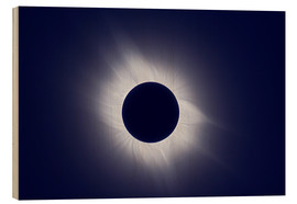 Wood print  Total solar eclipse at totality - Laurent Laveder