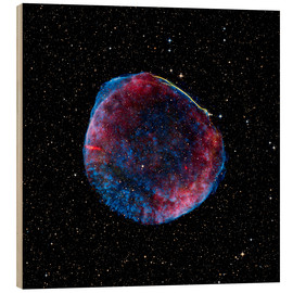 Wood print  Supernova remnant - Nasa