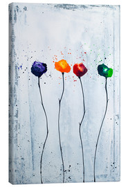 Canvas print  Four flowers - Yannick Leniger