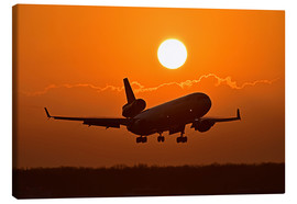 Canvas print  Landing a Boeing MD11 - HADYPHOTO by Hady Khandani
