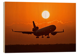 Wood print  Landing a Boeing MD11 - HADYPHOTO