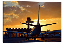 Canvas print  Airbus at the Frankfurt airport - HADYPHOTO by Hady Khandani