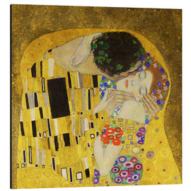 Alu-Dibond  The Kiss (detail cross) - Gustav Klimt