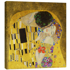 Canvas print  The Kiss (detail cross) - Gustav Klimt