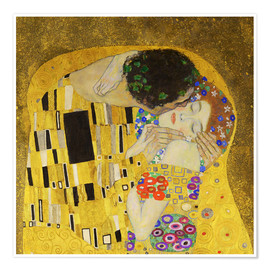Poster  The Kiss (detail cross) - Gustav Klimt