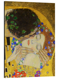 Aluminium print  The Kiss (detail) - Gustav Klimt