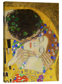 Canvas  The Kiss (detail) - Gustav Klimt