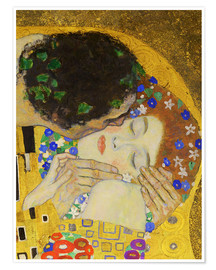 Premium poster  The Kiss (detail) - Gustav Klimt