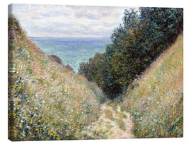 Canvas print  Road at La Cavée, Pourville - Claude Monet