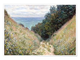Premium poster  Road at La Cavée, Pourville - Claude Monet
