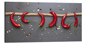 Alu-Dibond  red hot chilli peppers with spice - pixelliebe