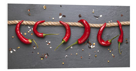 Foam board print  red hot chilli peppers with spice - pixelliebe