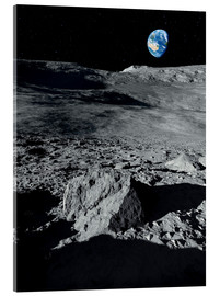 Acrylic glass  Earth from the Moon - Detlev van Ravenswaay