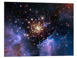 Foam board print  Open star cluster NGC 3603, HST image - NASA