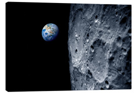 Canvas print  Earth from lunar orbit - Detlev van Ravenswaay