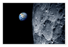 Premium poster Earth from lunar orbit