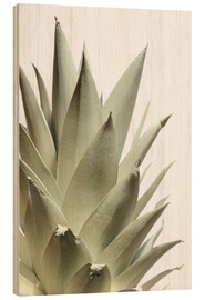 Wood print  White pineapple - Neal Grundy
