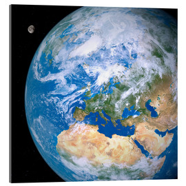 Acrylic print  Earth and the Moon from space - Detlev van Ravenswaay