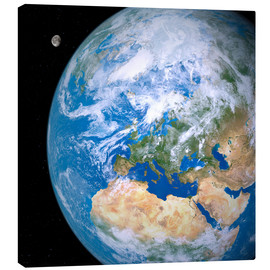 Canvas print  Earth and the Moon from space - Detlev van Ravenswaay