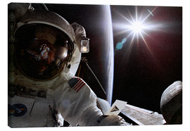Canvas print  Spacewalk, Joseph R. Tanner, STS-82 - NASA
