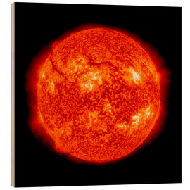 Wood print  Solar activity, SDO ultraviolet image - Nasa