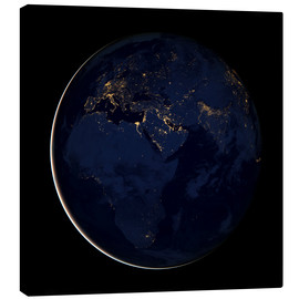 Canvas print  Africa at night - NASA